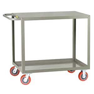 "Medium Duty Service Cart - 2 Shelves, 30""W x 48""L, Flush Top"