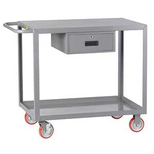 "Service Cart with Drawer - 24""W x 48""L, Flush Top"