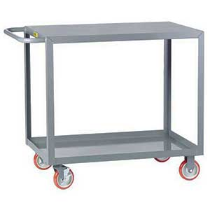 "Light Duty Service Cart - 2 Shelves, 24""W x 48""L, Flush Top"