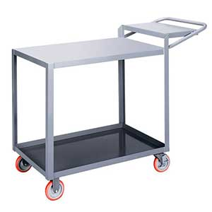 "Order Picking Cart - 2 Shelves, 24""W x 48""L, Flush Top"