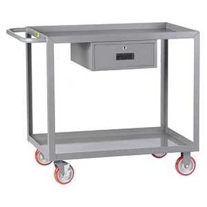 "Service Cart with Drawer - 24""W x 48""L, Lip Top"