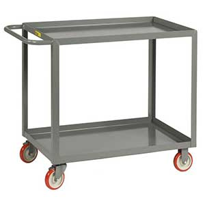"Light Duty Service Cart - 2 Shelves, 24""W x 48""L, Lip Top"