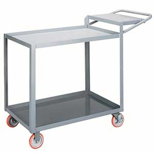 "Order Picking Cart - 2 Shelves, 24""W x 48""L, Lip Top"