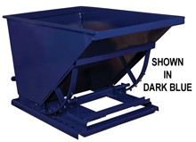 Light Duty Self Dumping Hopper: 1/2 Yard Volume Cap.; 1,500 lbs. Cap.