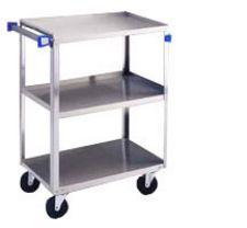 "Stainless Steel Utility Cart - 3 Shelves - 19""W x 31""L x 33 3/8""H - 500 lb. Cap."