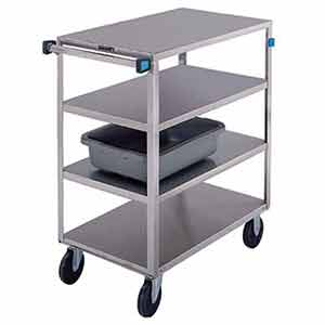 "Stainless Steel Supply Cart - 4 Flush Shelves, 18""W x 31""L, 500 lb. Cap."