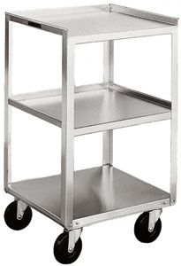 "Stainless Steel Equipment Stand - 3 16-3/4"" x 18-3/4"" Shelves, 500 lb. Cap."