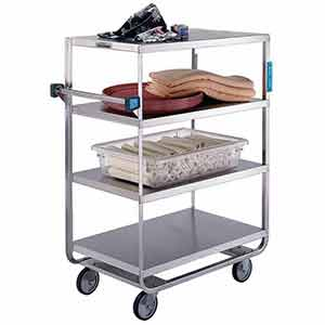 "Stainless Steel Supply Cart - 4 Lipped Shelves, 21""W x 33""L, 700 lb. Cap."