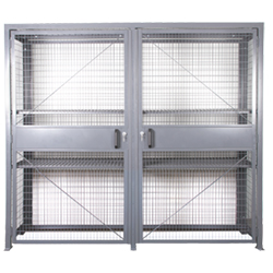 "Wire Mesh Security Cabinet, 36"" D x 84"" H x 96"" W - Dual Hinged Doors - Fully Assembled"