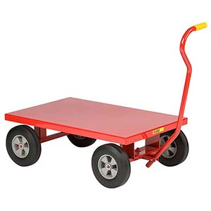 "5th Wheel Wagon - 24"" x 36"" Flush Deck, 10"" Solid Rubber Wheels, 1200 lb. Cap."