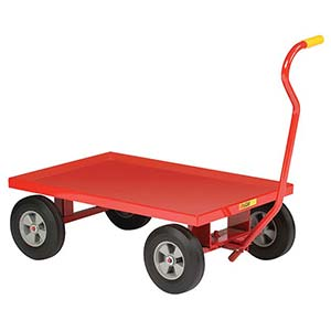 "5th Wheel Wagon - 24"" x 36"" Retaining Lip Deck, 10"" Solid Rubber Wheels, 1200 lb. Cap."