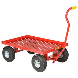 "5th Wheel Wagon - 24"" x 36"" Perforated Deck w/ Retaining Lip, 10"" Pneumatic Wheels, 1200 lb. Cap."