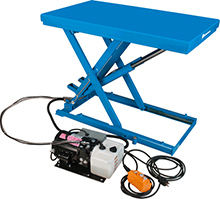 "Lo-Profile Scissor Lift, 24""W x 51""L Table, 2200 lbs. cap."