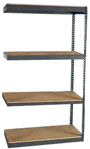 "Long Span Shelving, 72"" x 36"" x 84"", w/Decks, 1000 Lbs. Cap. - Adder"