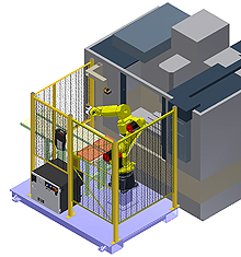 Robotic Machine Tool Tending System - Automated Load/Unload, 44 lb. Payload Cap.