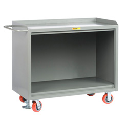 "Mobile Workbench Cabinet - 24"" x 48"", No Drawers, Steel Top"