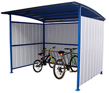 "Bicycle Storage Shelter, 120""W x 95-1/2""D x 90-1/16""H"