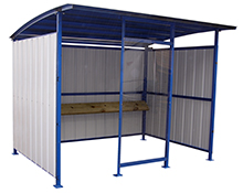 "Smokers Outdoor Shelter, 120""W x 95-1/2""D x 90-1/16""H"