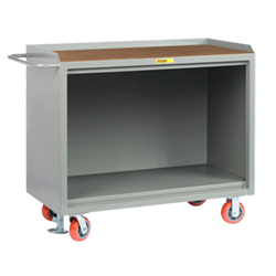 "Mobile Workbench Cabinet - 24"" x 48"", No Drawers, Hardboard Top"