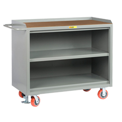 "Mobile Workbench Cabinet - 24"" x 48"", Shelf, Hardboard Top"