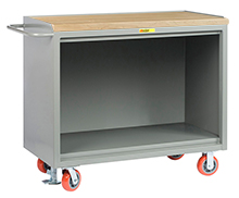 "Mobile Workbench Cabinet - 24"" x 48"", No Drawers, Butcher Block Top"