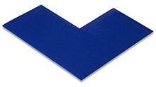 Floor Tape - Angle, Blue, 6-in. x 6-in. x 3-in., Box of 100