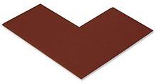 Floor Tape - Angle, Brown, 6-in. x 6-in. x 3-in., Box of 100