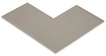 Floor Tape - Angle, Grey, 6-in. x 6-in. x 3-in., Box of 100
