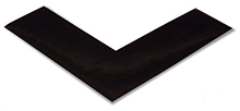 Floor Tape - Angle, Black, 6-in. x 6-in. x 2-in., Box of 100