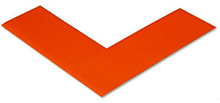 Floor Tape - Angle, Orange, 6-in. x 6-in. x 2-in., Box of 100