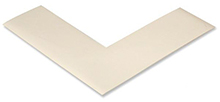Floor Tape - Angle, White, 6-in. x 6-in. x 2-in., Box of 100