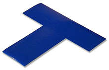 Floor Tape - T, Blue, 6-in. x 6-in. x 2-in., Box of 100