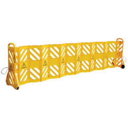 "Collapsible Plastic Safety Barrier - 11-1/2' Extended Length, 40"" Height"