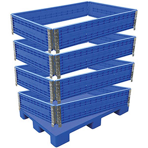 Multi-Height Polyethylene Container w/ Pallet Base