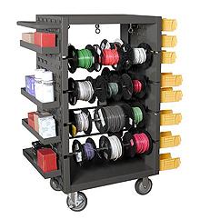 Mobile Wire Spool Carts | Wire Organization Cabinet | Spool Storage