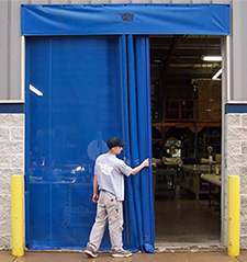 Insect & Debris Blocking Mesh Screen Dock Door - 14'W x 16'H