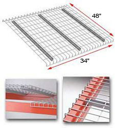 "Wire Rack Deck, 48 x 34, 2-1/2"" x 4"" mesh, 3 channels - 2200 lbs. cap."