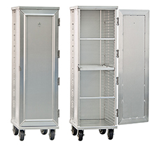 "Enclosed Tray Cabinet for Cannabis Edibles - 20-7/8""W x 27-5/8""D x 69""H, 38 tray capacity"