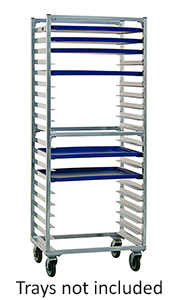 "Heavy Duty Pan Rack for Cannabis Edibles - 20 pans, 3"" spacing, side load"