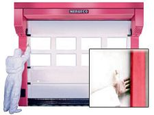 High-Speed Door, Pharmaceutical/Clean Room, up to 14' x 15'
