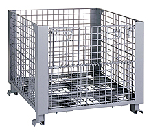 "Stackable Rigid Wire Container with 1/2 Front Drop Door - 32"" x 40"" x 28"""