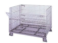 Foldable/Stackable Wire Container; 4000 Lbs. Cap. - 40dx 48w x 42.5h