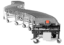 Nestaflex Flexible Power Roller Conveyor