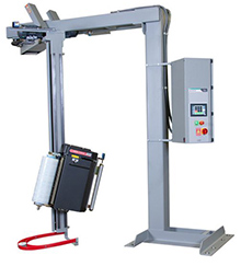Rotary Tower Semi-Automatic Stretch Wrapper, 1-Leg Integral Stand
