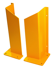 "48"" H Overhead Door Track Guard - 10"" x 10"" Base, Yellow"