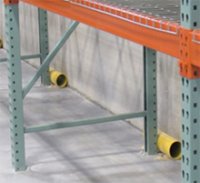 wall protectors in a rack system