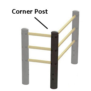 "Corner Post for Flexible Handrail - 46.5""H"