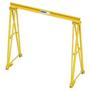 Steel Gantry Crane - 2 Ton Cap , 35' Clear Span, 35' Under Beam Ht ,  PF-Series