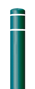 "Green Bollard Cover with White Contrast Stripe - Fits 52""H x 4.5""Dia. Post"