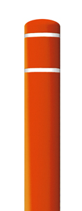 "Bollard Cover Orange with White Contrast Stripe - Fits 60""H x 7""Dia. Post"